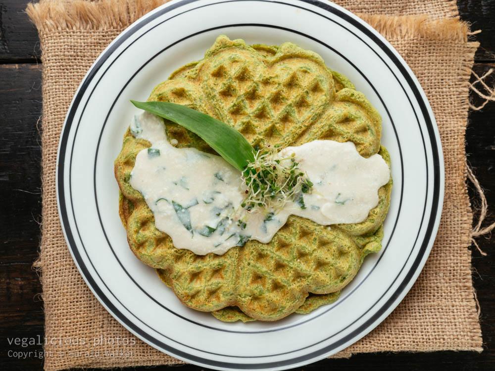 Stock photo of Kale Waffles