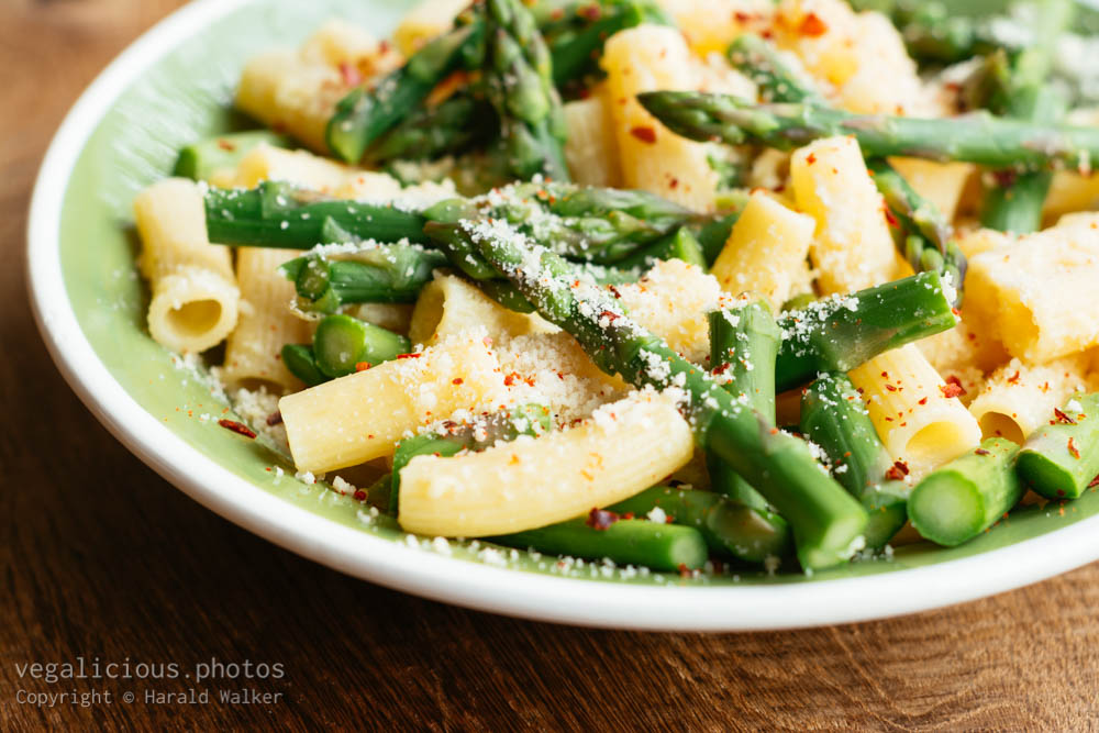 Stock photo of Pasta with Asparagus and Creamy Almond Sauce