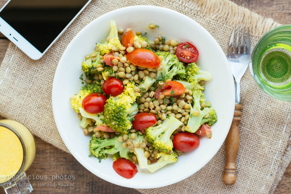 Stock photo of Broccoli Lentil Salad