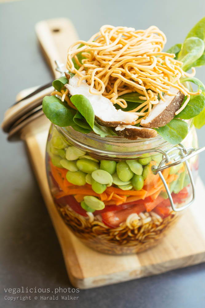 Stock photo of Asian Salad in A Jar