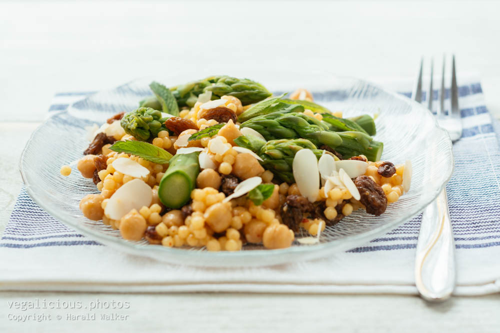 Stock photo of Asparagus Pearl Couscous Salad