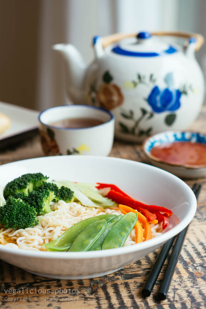 Stock photo of Asian Noodle Bowl with Vegetables