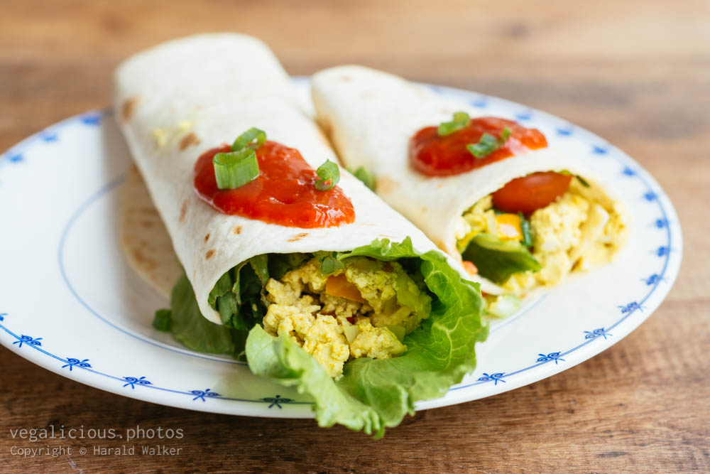 Stock photo of Scrambled Tofu Wraps