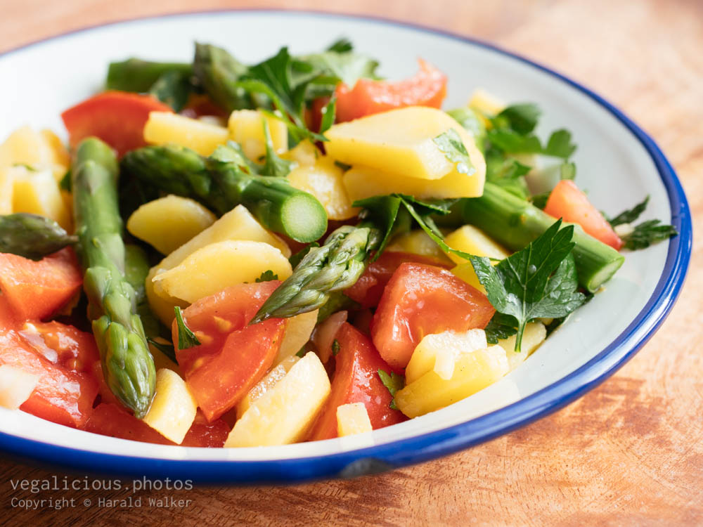 Stock photo of Potato Salad with Asparagus and Tomatoes