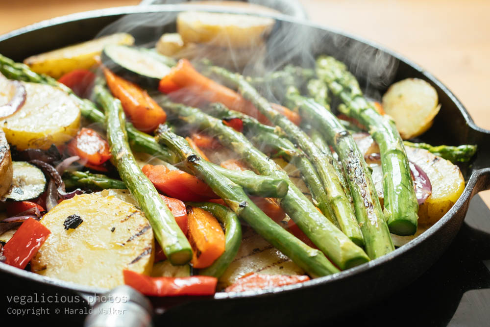 Stock photo of Grilling mixed vegetables