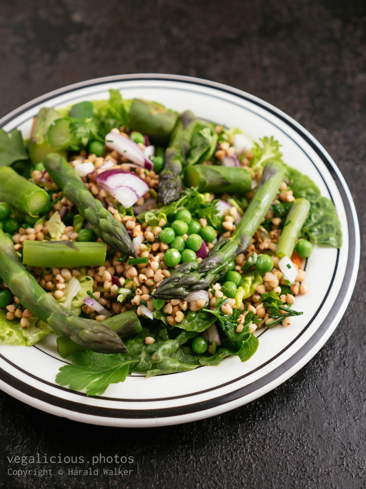 Stock photo of Spring Salad with Asparagus and Peas