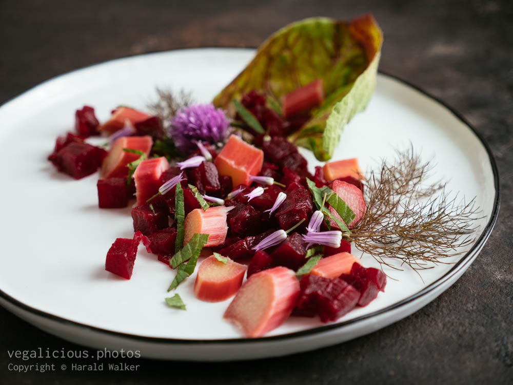 Stock photo of Beet and Rhubarb Salad