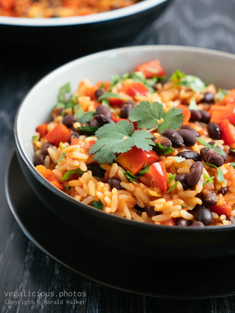 Stock photo of Rice and Beans with Coriander