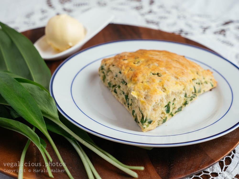 Stock photo of Savory Wild Garlic Scones
