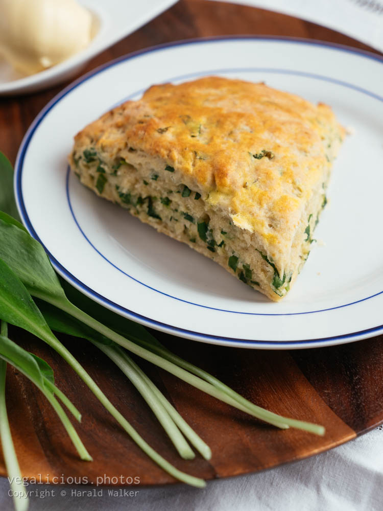 Stock photo of Savory Wild Garlic Scones