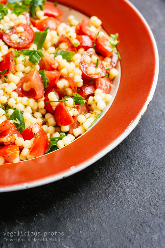 Stock photo of Pearl Couscous, Tomoato, Herb Salad