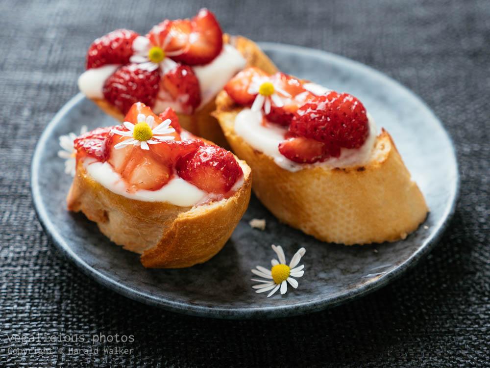 Stock photo of Strawberry Bruschetta