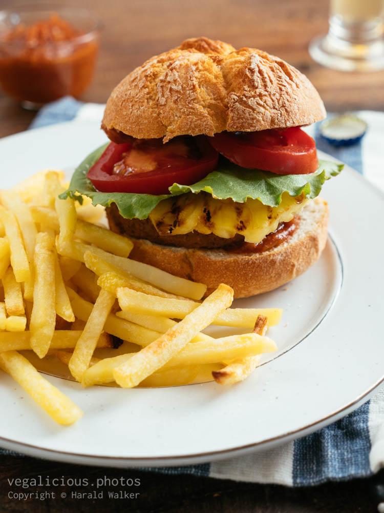 Stock photo of Vegan Hawaiian Burger