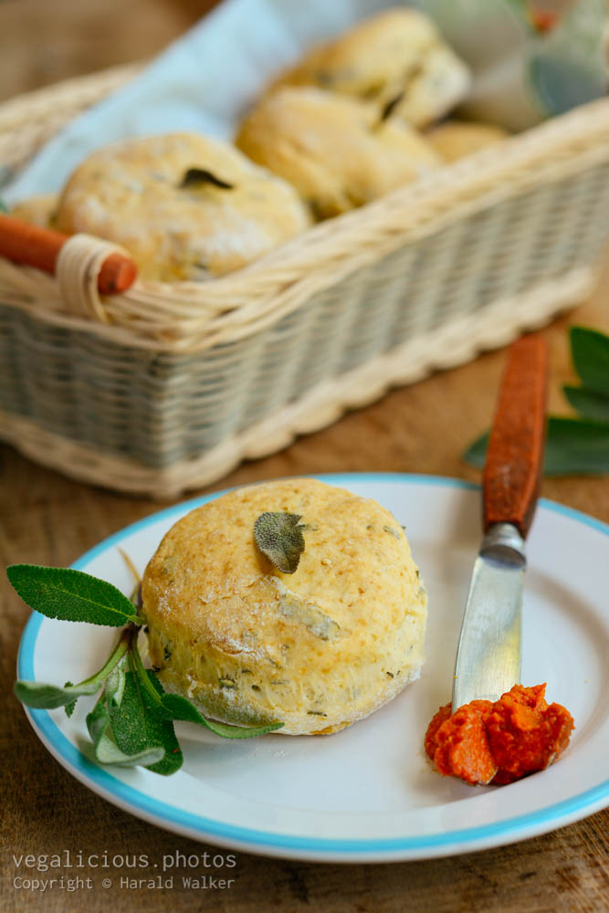 Stock photo of Home made sage biscuits