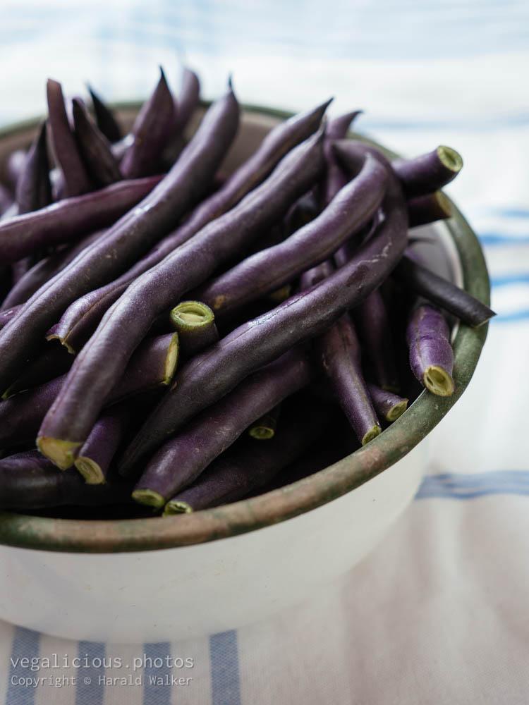 Stock photo of Fresh purple beans