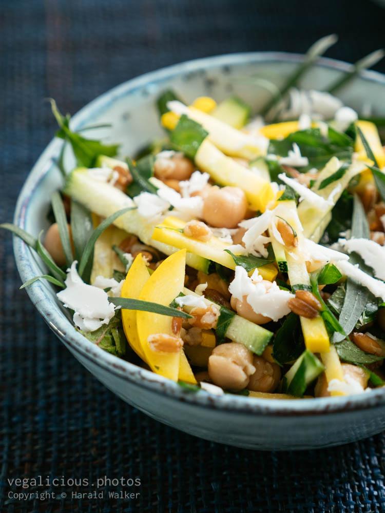 Stock photo of Farro, Zucchini, Arugula Salad