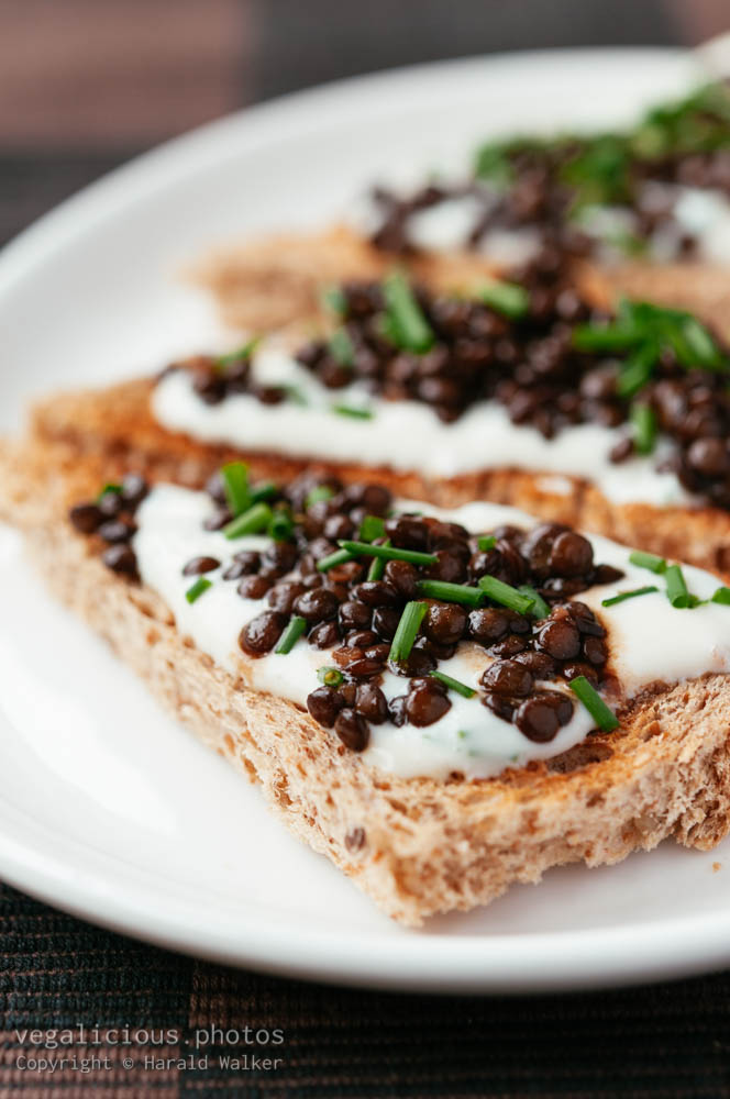 Stock photo of Lentil toast