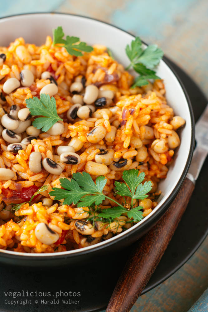Stock photo of Mexican Rice with Black-eyed Peas