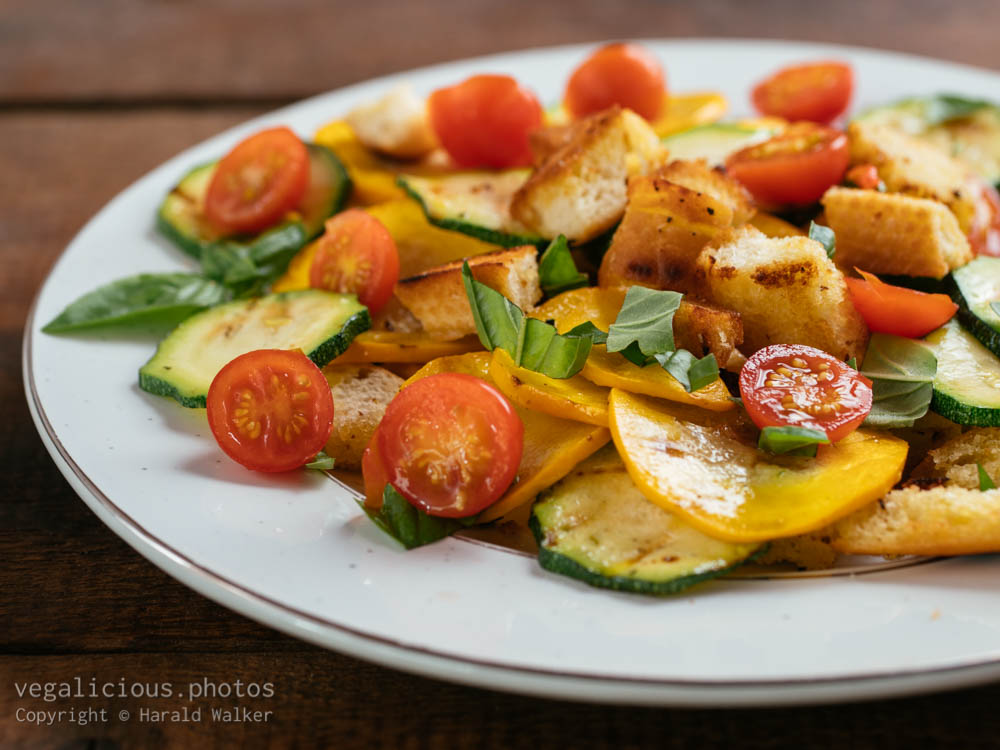 Stock photo of Grilled Zucchini Panzanella