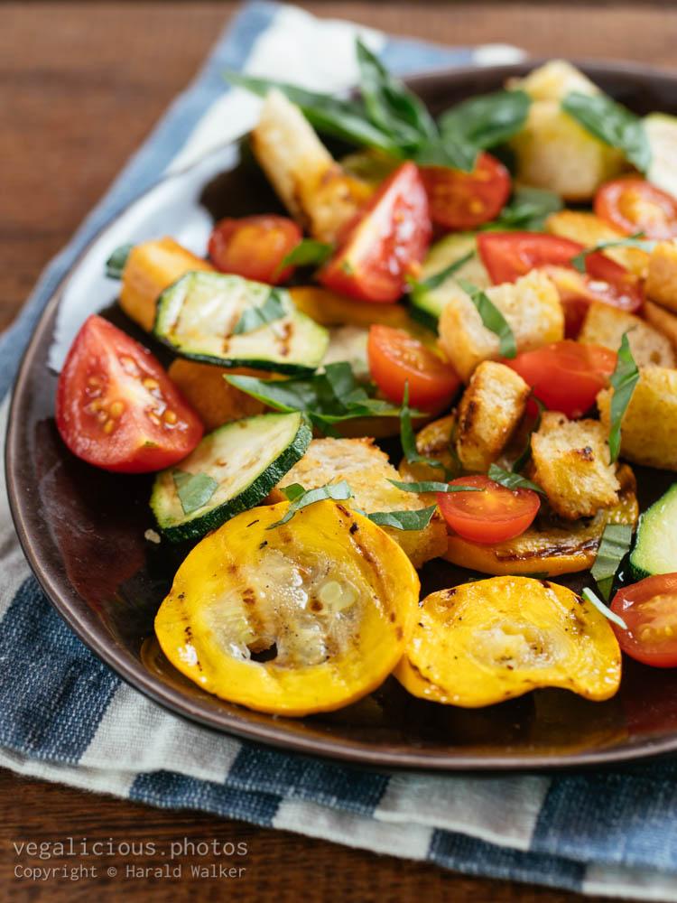 Stock photo of Grilled Zucchini Panzanella