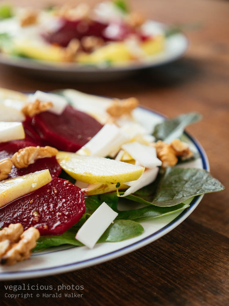 Stock photo of Beet and pear salad