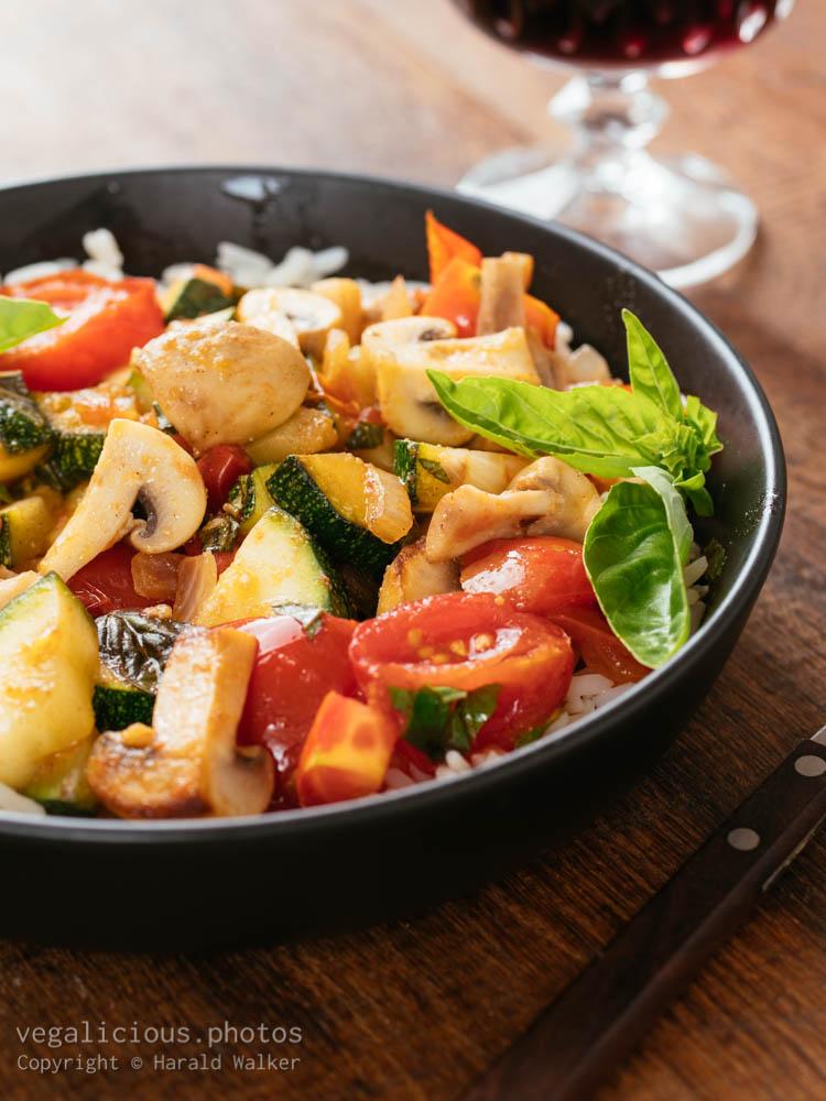 Stock photo of Italian Style Zucchini and Mushrooms