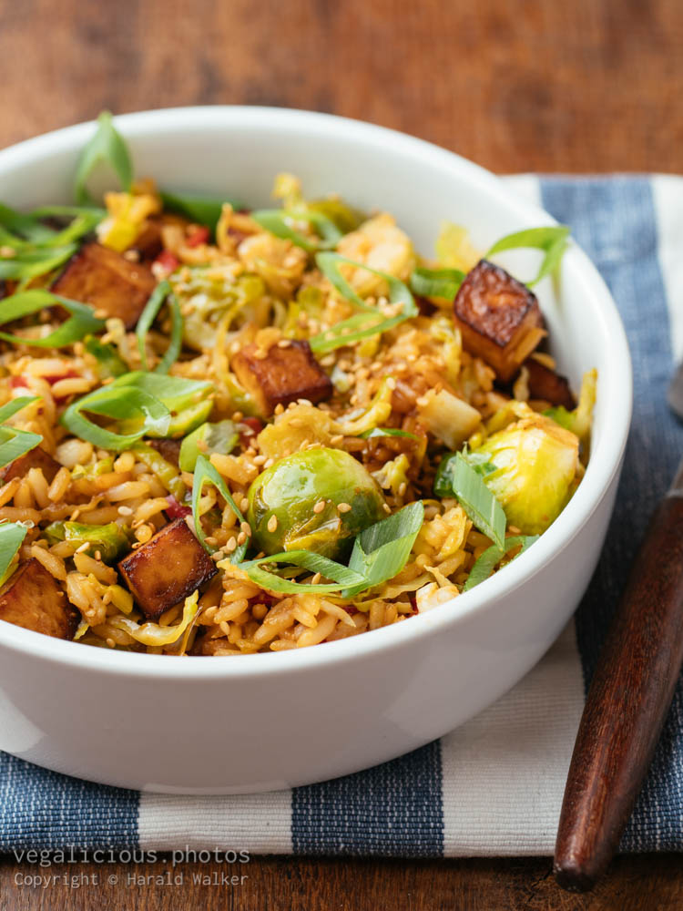 Stock photo of Brussels Sprouts Fried Rice