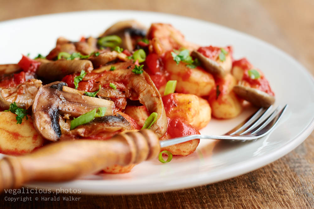 Stock photo of Mushroom Ragu on Gnocchi
