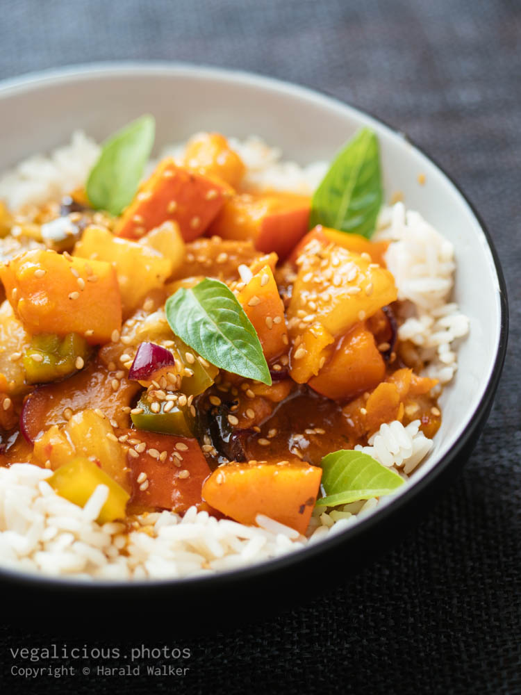 Stock photo of Sweet Sour Winter Squash with Chickun