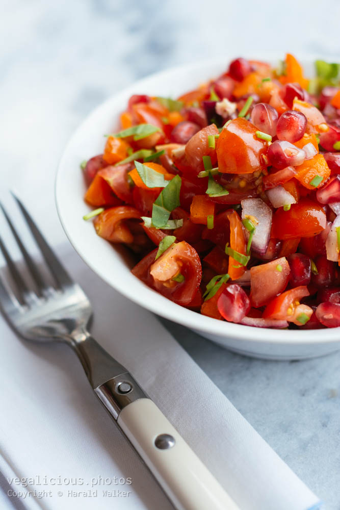 Stock photo of Tomato Pomegranate Salad