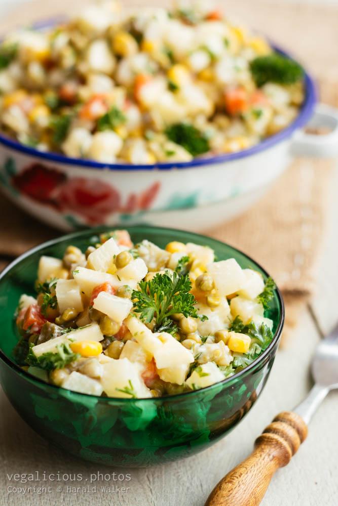Stock photo of Polish Veggie Salad (salatka jazrynowa)