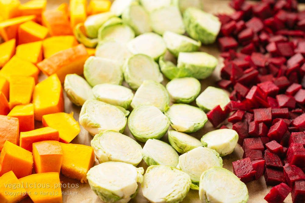 Stock photo of Vegetables on sheet
