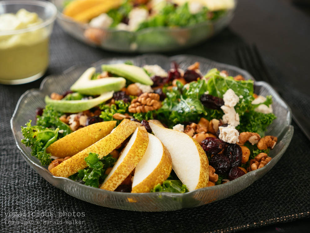 Stock photo of Kale Salad with Avocado Dressing