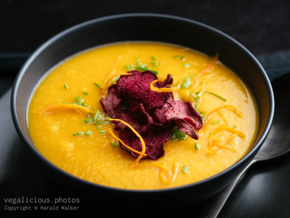 Stock photo of Orange Winter Squash Soup with Ginger