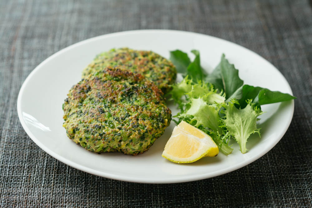 Stock photo of Kale and Pea Patties