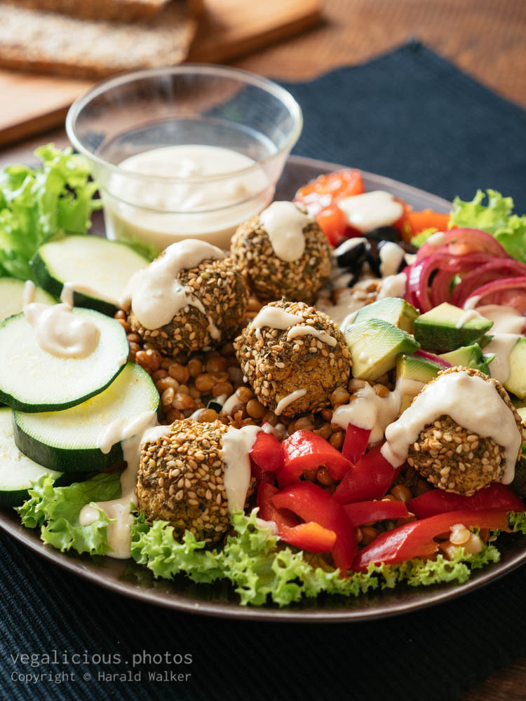 Stock photo of Falafel Ball Dinner Salad