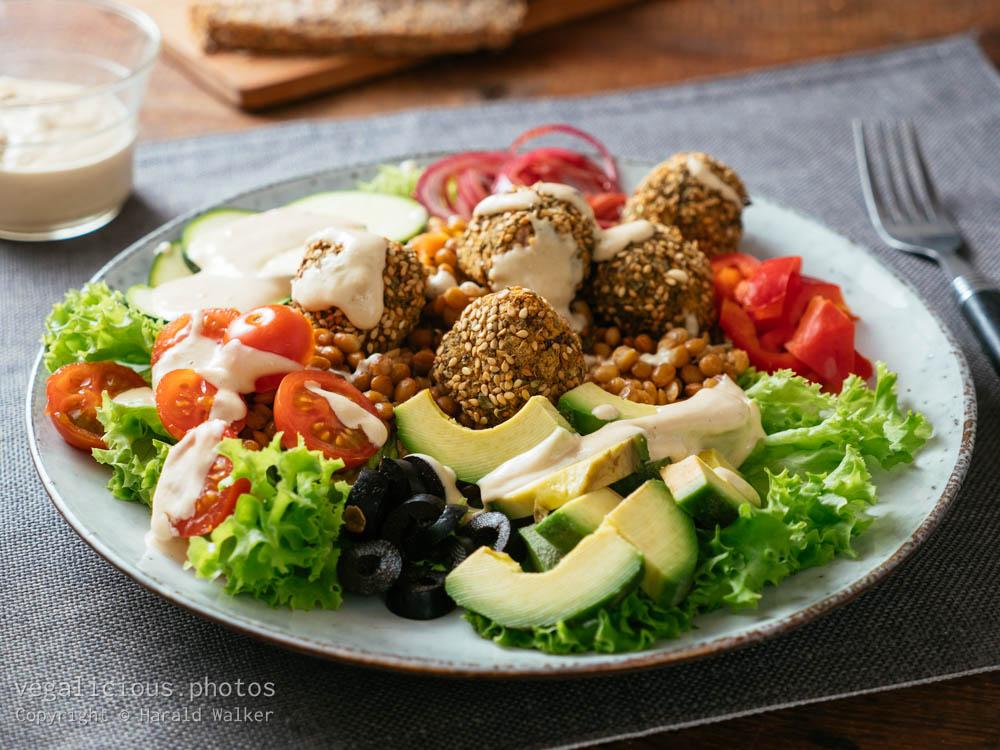 Stock photo of Falafel Ball Dinner Salad