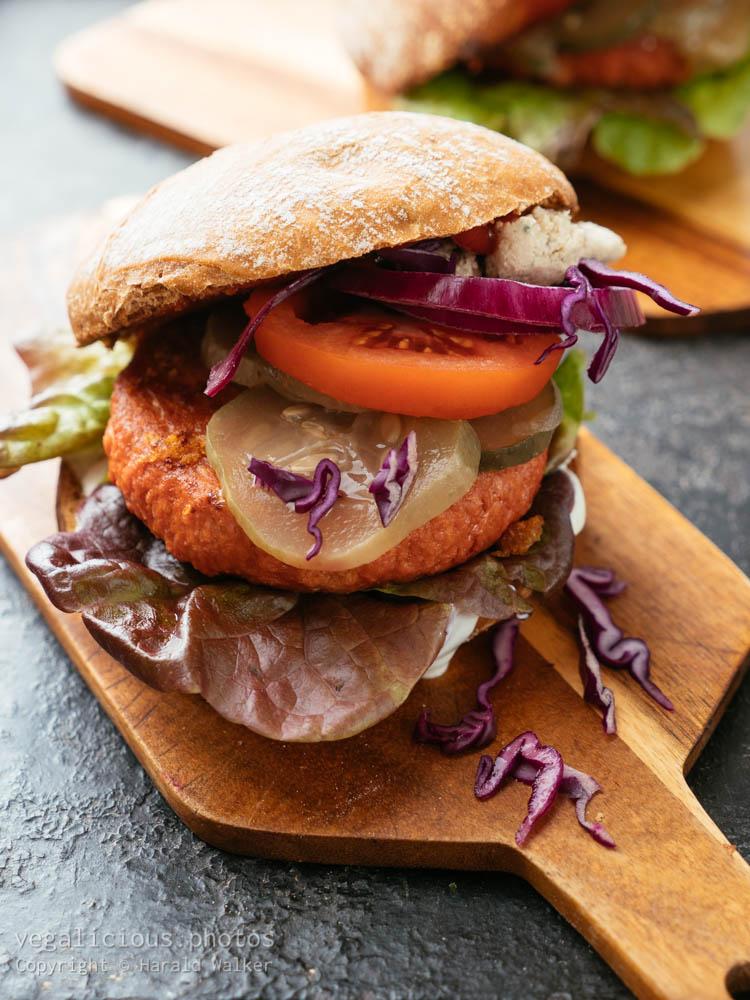 Stock photo of Home made veggi burger