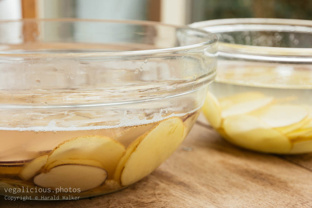 Stock photo of Making home made potato chips