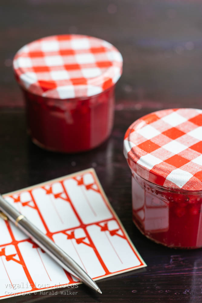 Stock photo of Red Currant fruit jam