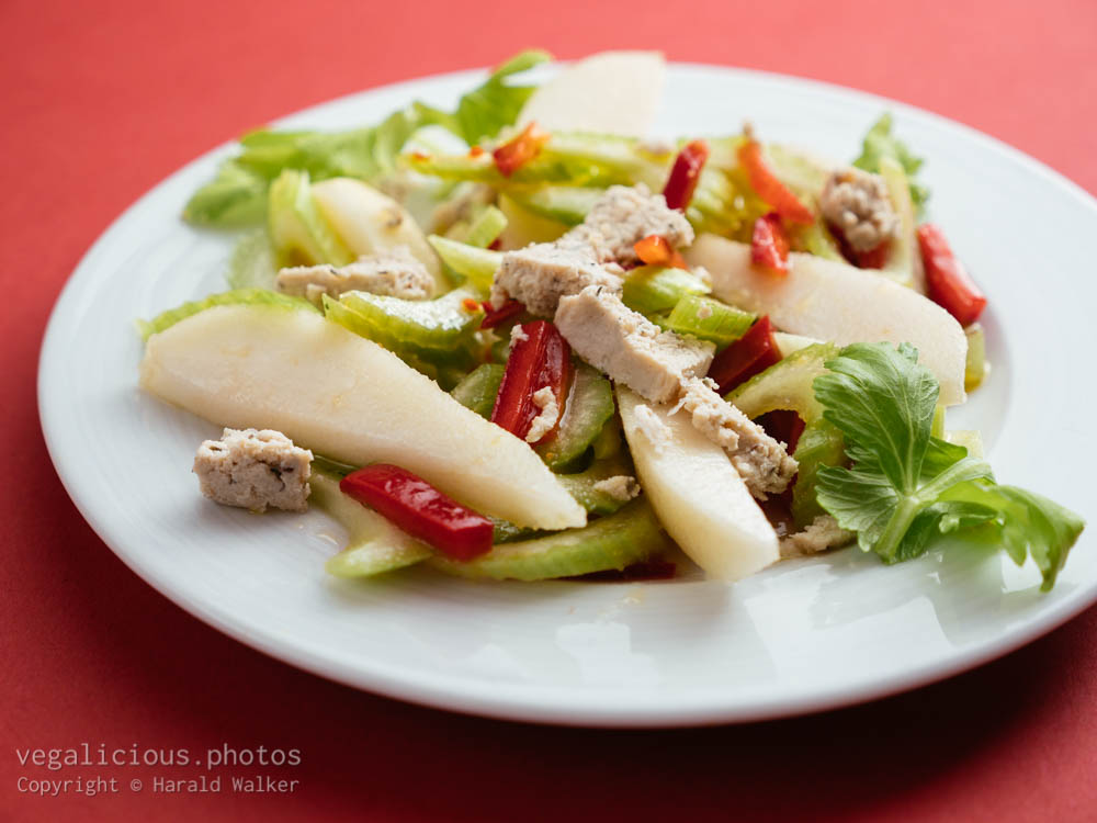 Stock photo of Celery, Pear Salad with Vegan Feta