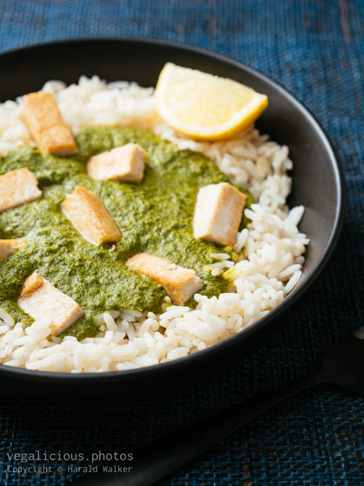 Stock photo of Indian Curried Kale and Tofu