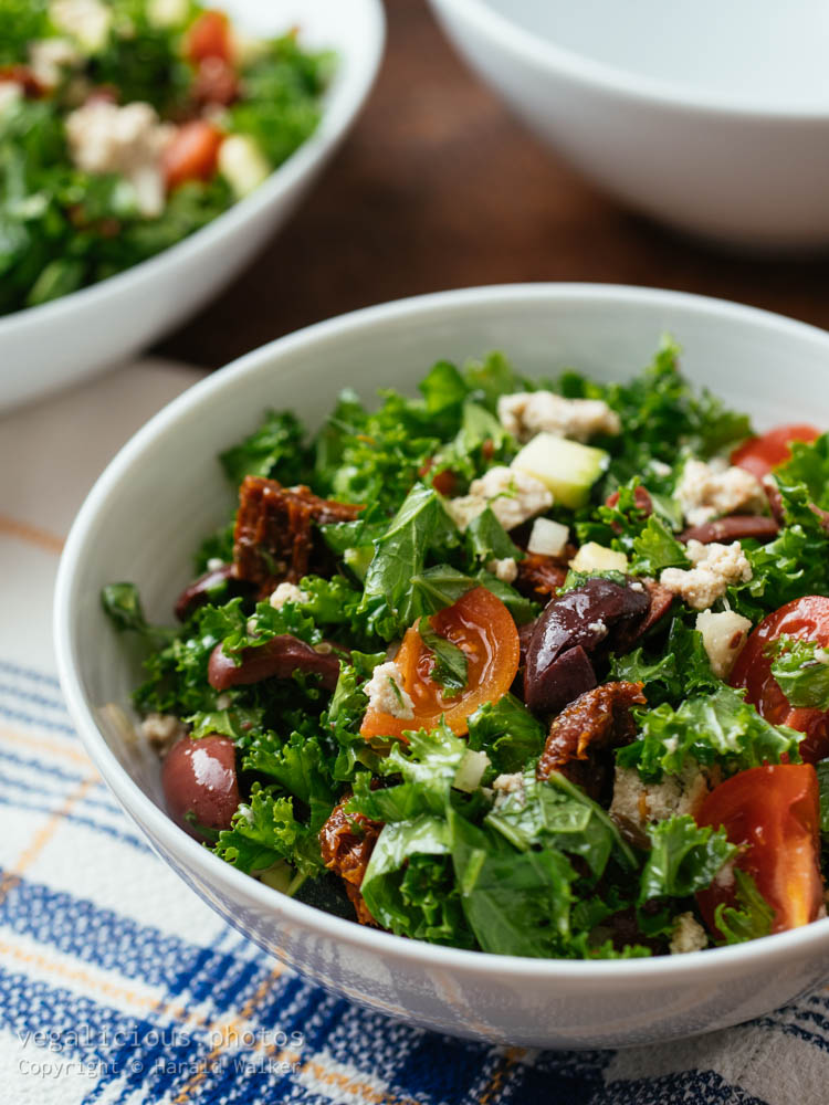 Stock photo of Greek Kale Salad
