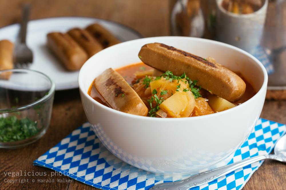 Stock photo of Bavarian soup