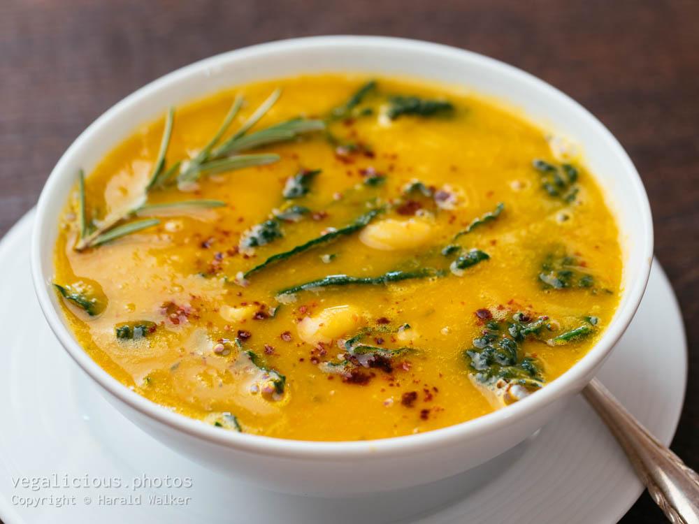 Stock photo of Tuscan White Bean, Kale Soup