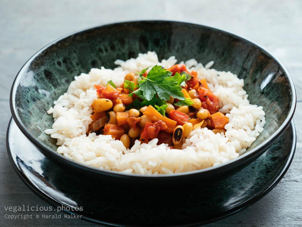 Stock photo of Greek Style Black-eyed Pea Stew