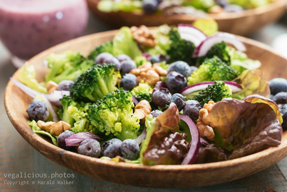 Stock photo of Broccoli, Blueberry Salad