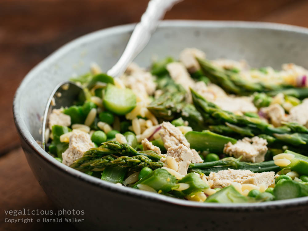 Stock photo of Asparagus, Pea, Pasta Salad