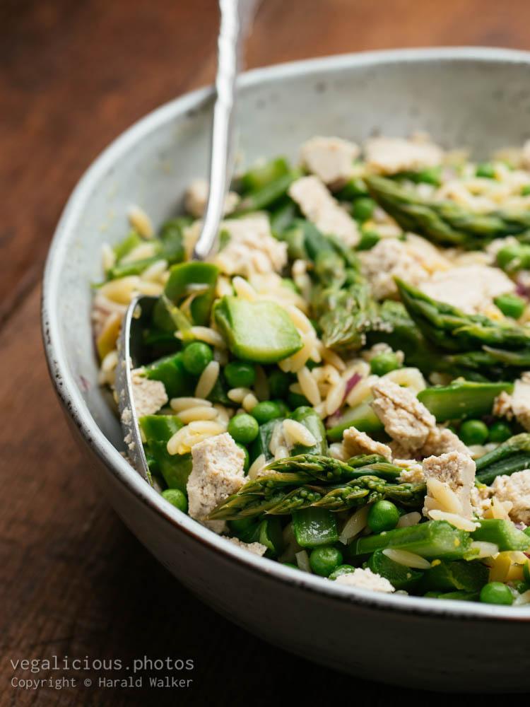 Stock photo of Asparagus, Pea, Pasta Salad