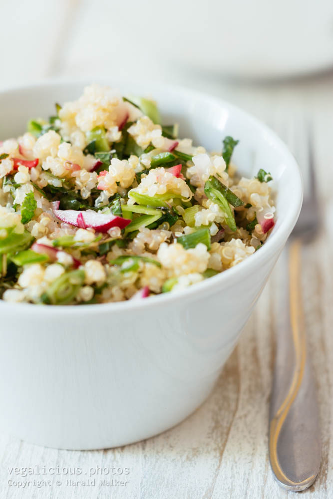 Stock photo of Quinoa, Sugar Snaps and Mint Salad